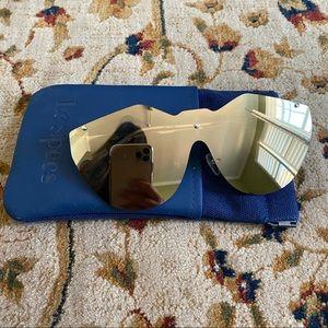Le Specs Mirrored Gold Sunglasses